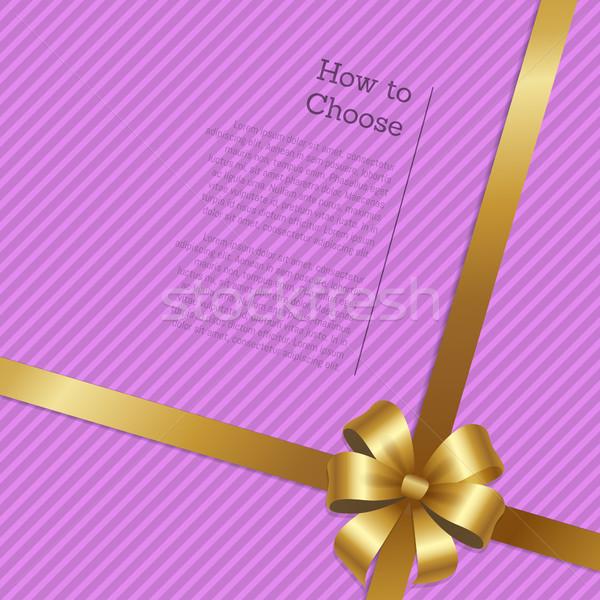 Yo wybierać zakupy świadectwa złota Zdjęcia stock © robuart