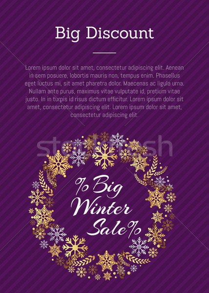 Big Discount Winter Sale PosterPlace for Text Stock photo © robuart