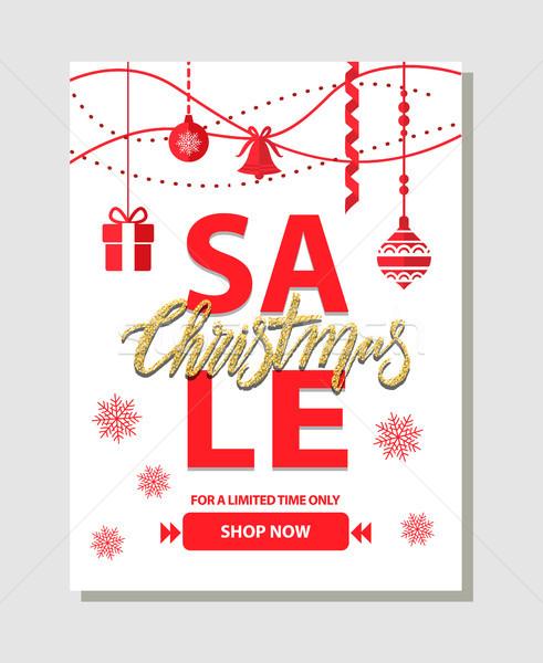 Christmas Sale Shop Now on Vector Illustration Stock photo © robuart
