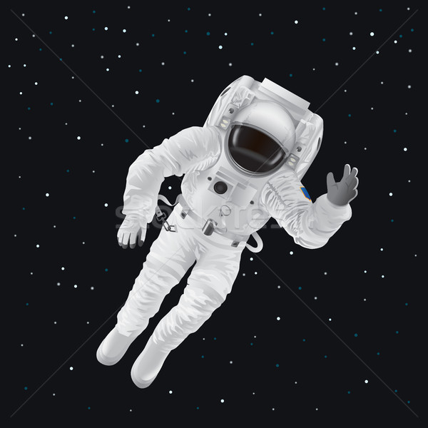Spaceman in Pressure Suit out in Space among Stars Stock photo © robuart