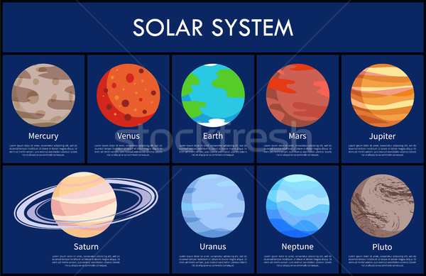 Solar System and Information Vector Illustration Stock photo © robuart