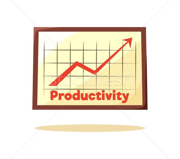 Productivity Graphic Card Vector Illustration Stock photo © robuart