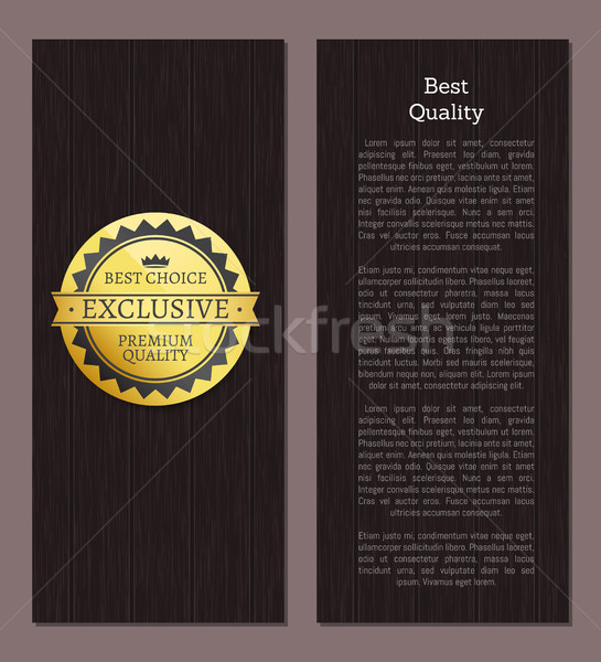 Best Quality Premium Choice Exclusive Label Poster Stock photo © robuart