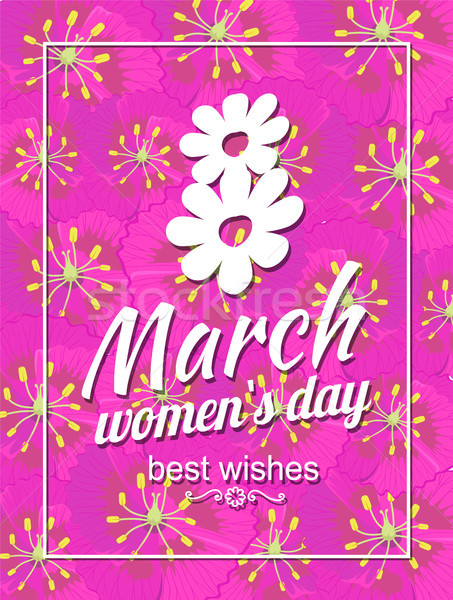Greeting Card Design 8 March Womens Day Postcards Stock photo © robuart