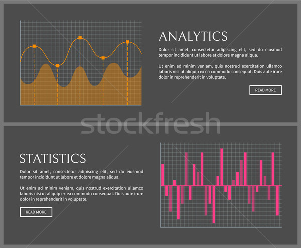 Analytics and Statistics Data on Internet Pages Stock photo © robuart