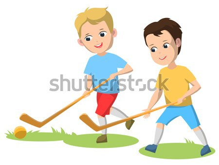 2 男の子 再生 回転木馬 子供 二人 ストックフォト © robuart