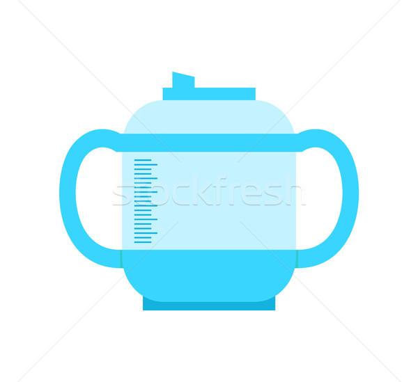 Pojemnik plastikowe materiału plakat obiektu Zdjęcia stock © robuart
