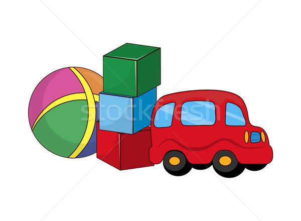Kinderachtig speelgoed jongens rubber plastic heldere Stockfoto © robuart