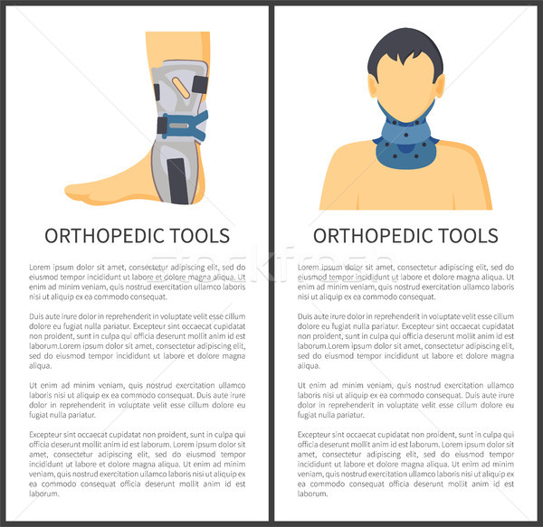 Orthopedic Tools Posters Set Vector Illustration Stock photo © robuart