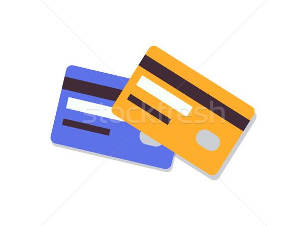 Bank kaarten geïsoleerd witte elektronische chips Stockfoto © robuart