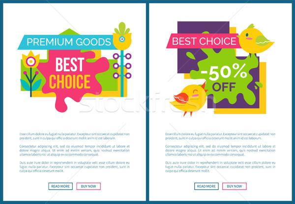 Prêmio bens venda anúncio pôsteres Foto stock © robuart