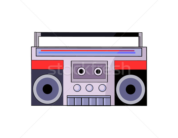 Tape Recorder of 80s Closeup Vector Illustration Stock photo © robuart
