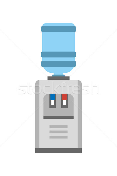 Machine affiche construction gallon faible table Photo stock © robuart