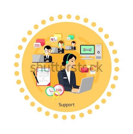 Müşteri çevrimiçi danışman hizmet kavram 24 Stok fotoğraf © robuart