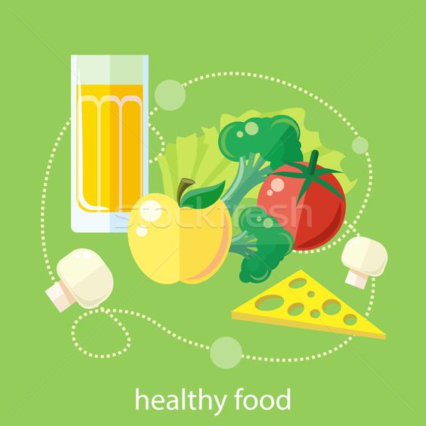 Orgânico saúde comida produtos projeto verde Foto stock © robuart