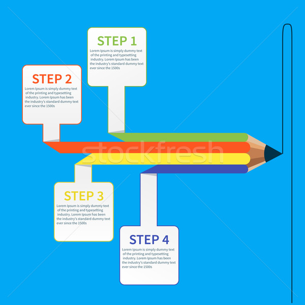 Business education pencil infographics option Stock photo © robuart