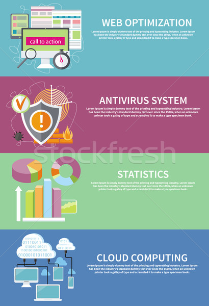 Antivirus statistiche classifiche grafici Foto d'archivio © robuart