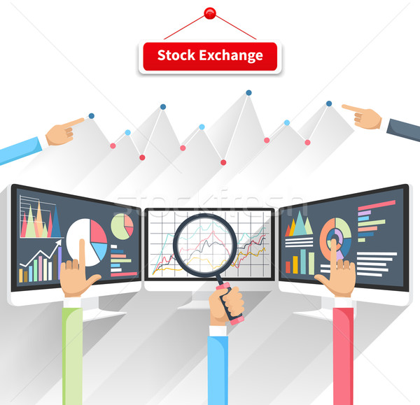 Borsa prezzo movimento monitor profitto grafico Foto d'archivio © robuart