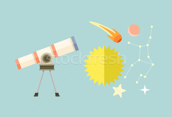 Telescoop zon sterrenbeeld komeet star astronomie Stockfoto © robuart