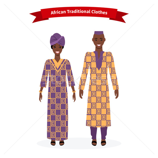 African Traditional Clothes People Stock photo © robuart