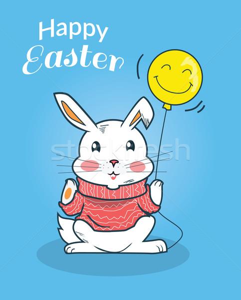 Happy Easter Bunny Design Flat Stock photo © robuart