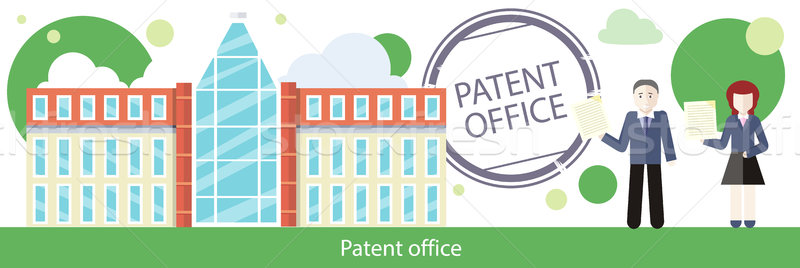 Patent Office Concept in Flat Design Stock photo © robuart