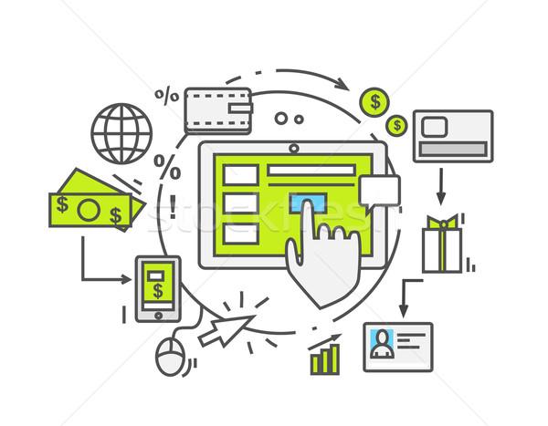 Caída envío icono estilo negocios cuadro Foto stock © robuart