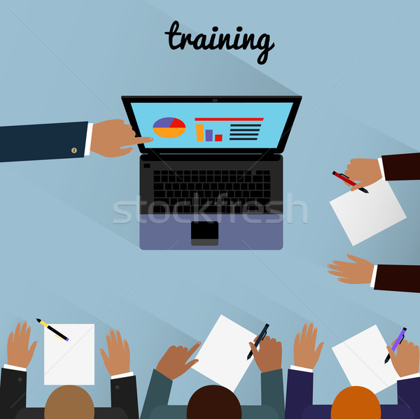 Workspace training Design Flat Stock photo © robuart