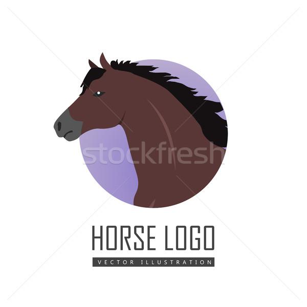 ストックフォト: 馬 · デザイン · を実行して · スタイル · ベクトル · ロゴ