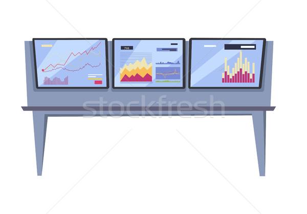 Tőzsde ellenőrzés vektor stílus terv online Stock fotó © robuart