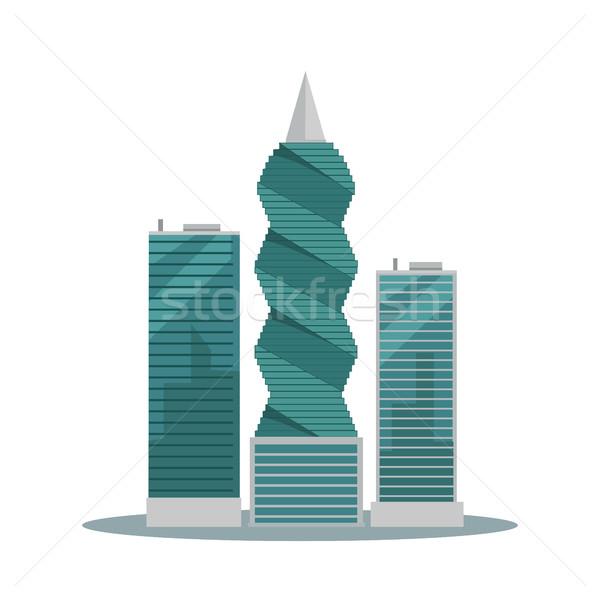 Panama-City Buildings Flat Vector Illustration Stock photo © robuart