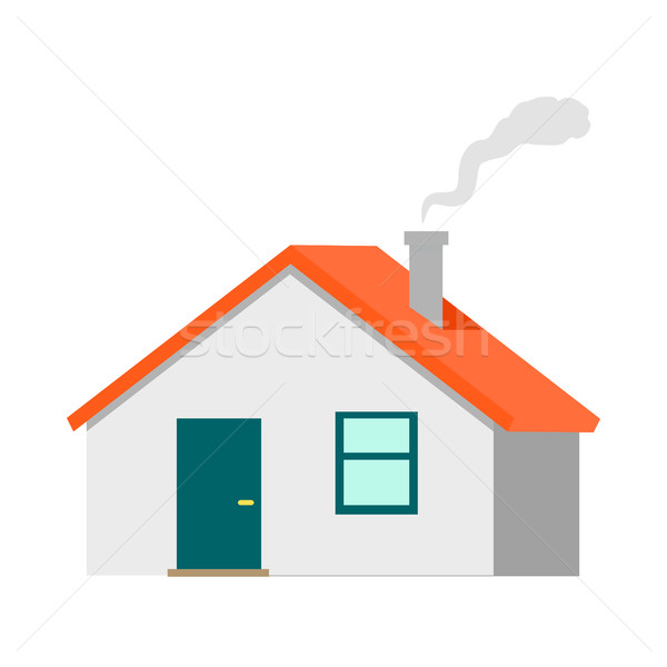 House Vector Illustration in Flat Design Stock photo © robuart