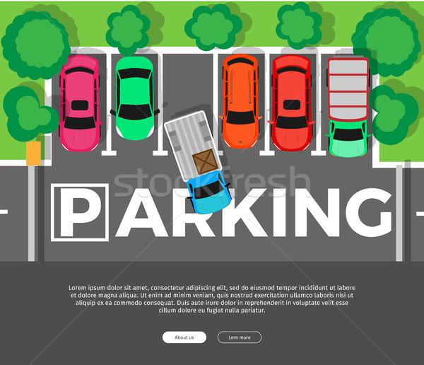 Parking Conceptual Web Banner. Car Park. Vector Stock photo © robuart