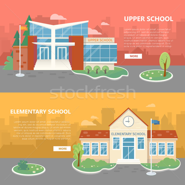 Upper and Elementary School Vector Banners Stock photo © robuart