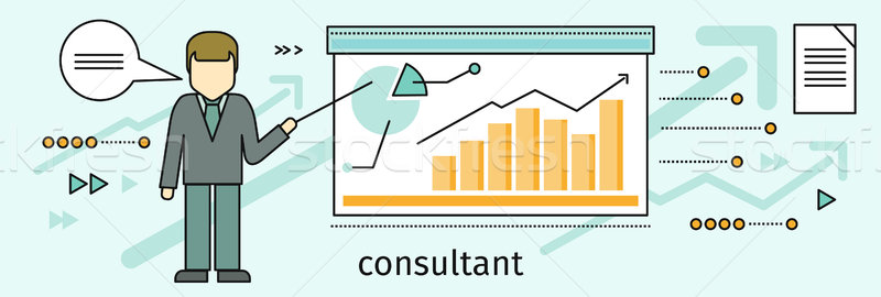 Management Consulting Banner Stock photo © robuart