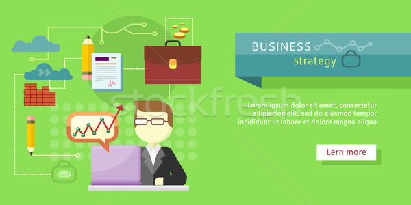 Business Strategy Web Banner. Performance Analysis Stock photo © robuart