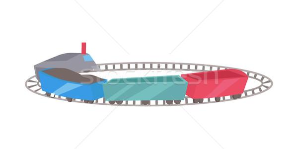 Treinen spoorweg verkeer manier speelgoed trein Stockfoto © robuart