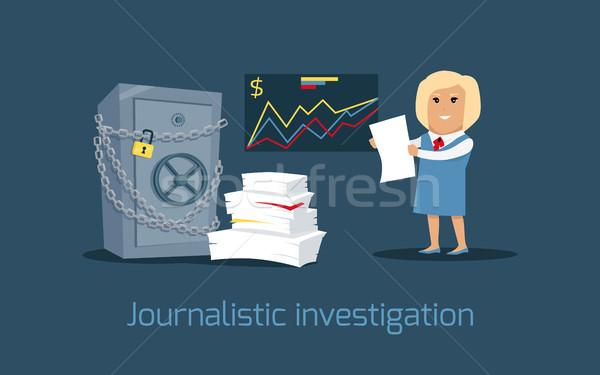 Soruşturma vektör dizayn finansal suç vergi Stok fotoğraf © robuart