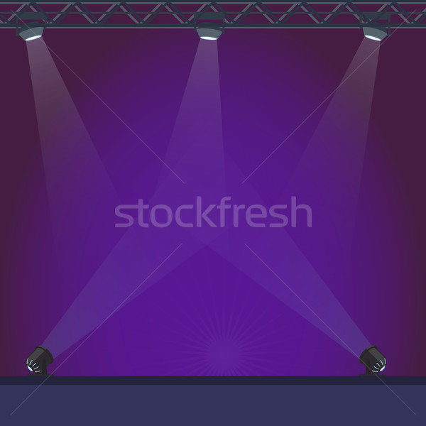 Empty Stage with Blue Lightening Illustration Stock photo © robuart