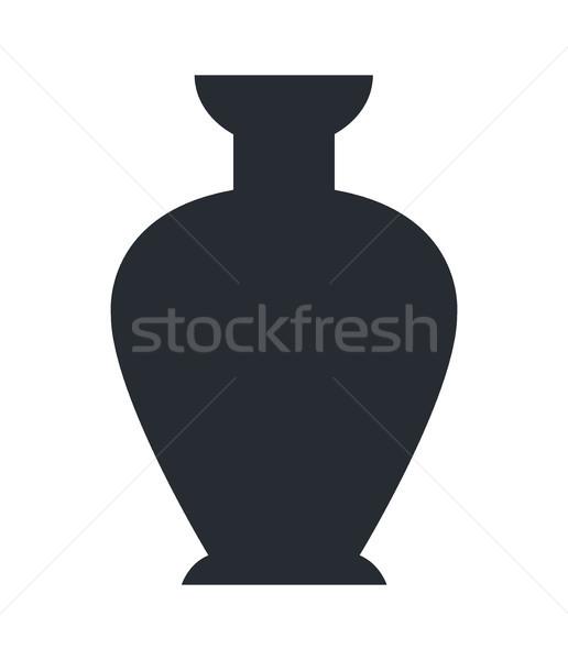 Közelkép agyag váza izolált fehér antik Stock fotó © robuart