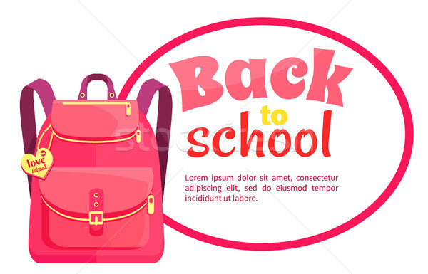 Rucksack for Girl in Pink Colors with Inscription Stock photo © robuart
