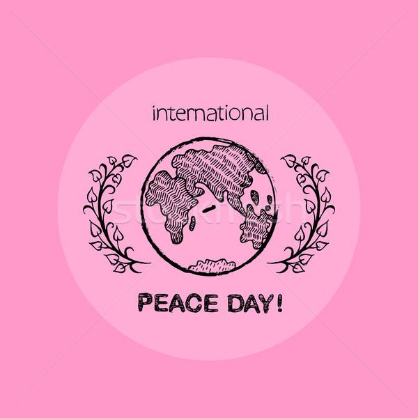 Terra internacional paz dia tanto direito Foto stock © robuart