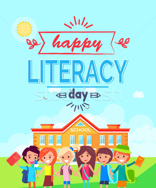 Happy Literacy Day Colorful Vector Illustration Stock photo © robuart
