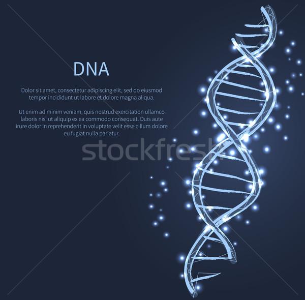 DNA kod yapı ikon vektör ışık Stok fotoğraf © robuart
