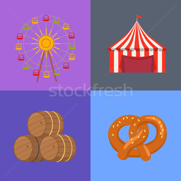 Four Picture Set Beerfest Vector Illustration Stock photo © robuart
