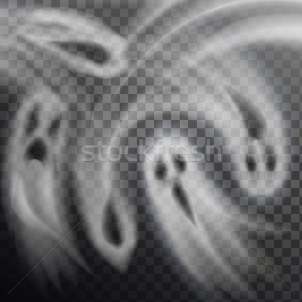 Ghosts Vector Illustration Transparent Background Stock photo © robuart
