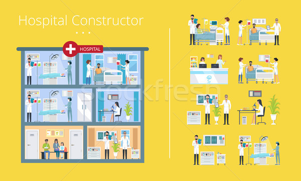Hospital Constructor Scheme Vector Illustration Stock photo © robuart