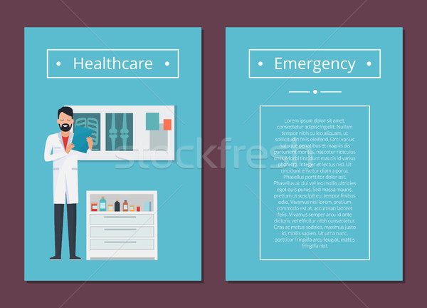 Healthcare and Emergency Set Vector Illustration Stock photo © robuart