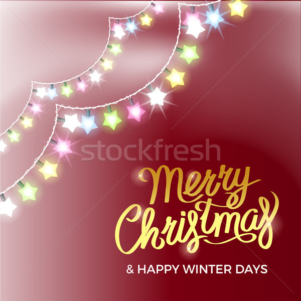 Merry Christmas and Happy Winter Days Poster Stock photo © robuart