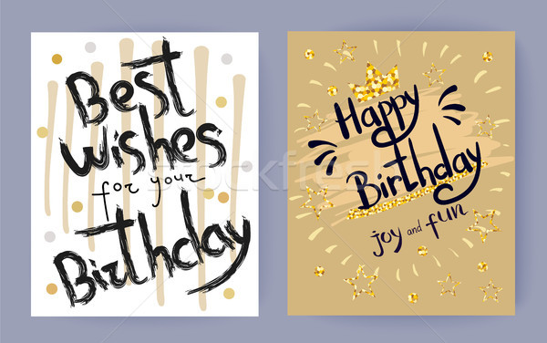 Best Wishes for Your Birthday Vector Illustration Stock photo © robuart